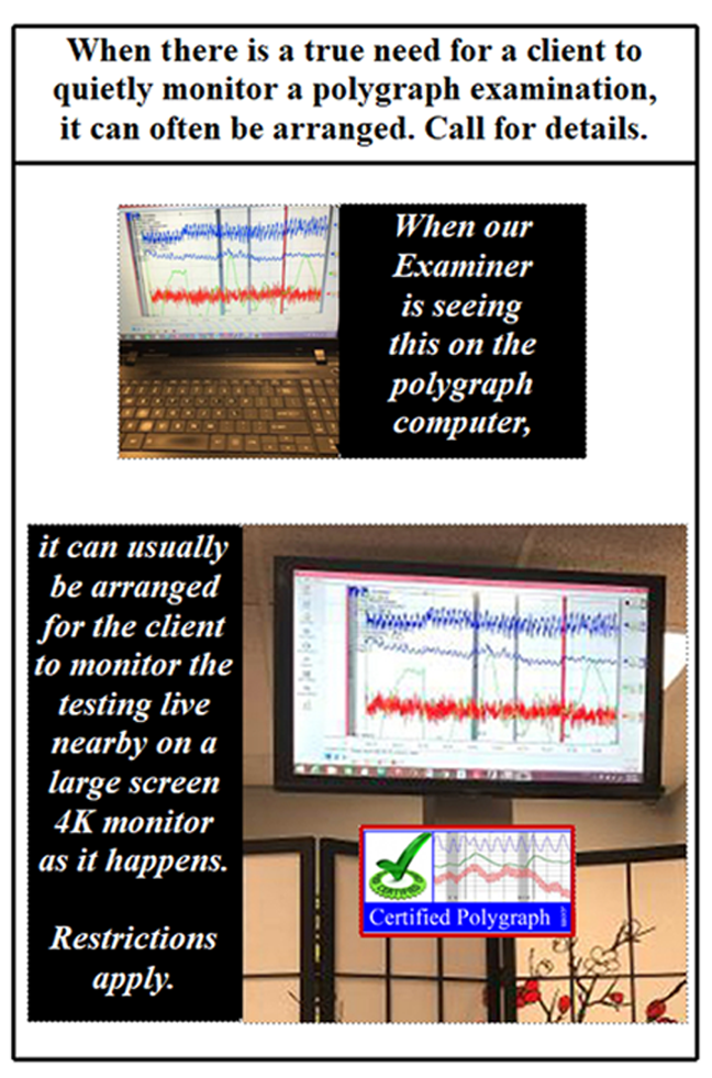 Monitor a Los Angeles  polygraph