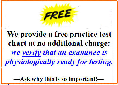 Los Angeles polygraph test with free test chart