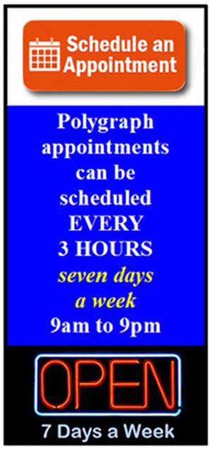 Garden Grove polygraph appointment