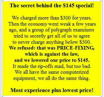 Why the lowest price on a polygraph test