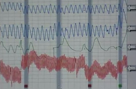 polygraph chart on a TV show